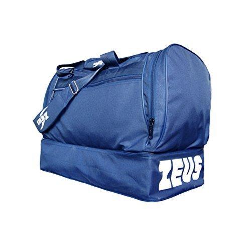 Zeus Herren Sporttasche Fußball Schultergurt Umhängetasche BORSA SMALL 47X26X40 cm (GRENADE) BLAU