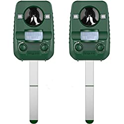 AngLink 2 x Répulsif Chat Ultrason Solaire Repulsif Anti Chats