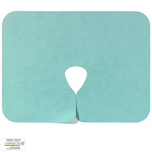 Nasenschlitztuch color grün / mint / jade, WASCHBAR: 400x, 40x30 cm, 1 Stück - OEKO-TEX® geprüft - ORIGINAL Dr. Güstel Waschfaserlaken - Vlieslaken / Waschvlies -