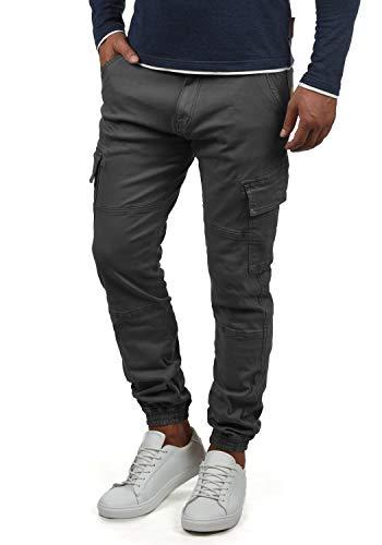 Indicode Bromfield Herren Cargohose Lange Hose Mit Taschen, Größe:XL, Farbe:Dark Grey (910)