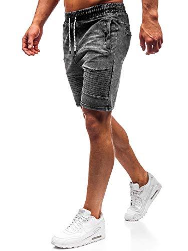 dc7b3dac6c4d02 BOLF Hombre Pantalón Corto Pantalones Vaqueros Denim Regular Pantalón de  Algodón J.Style KK102 Gris