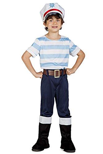 Imagen de disfraz de marinero lobo de mar para niño