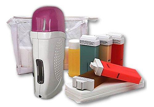 Home Waxing Set für Haarentfernung mit Warmwachs Waxing Kit Haarentfernungsgerät Haarentferner für Zuhause -