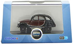 OXFORD DIECAST 76CT001 Charleston Maroon/Black Citroen 2CV