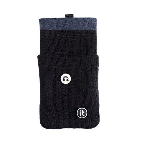 Cover It CVHPSKBK Universal Handy-Socke mit Aufbewahrungstasche für Ohrhörer schwarz