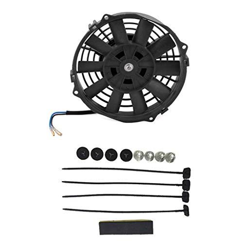 Xineker Mini Ventilatore Elettrico 12 V per radiatore Olio di Raffreddamento, Auto, Camion, ATV, B