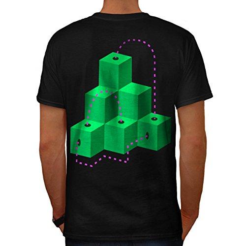 Würfel Modisch Drucken Mode geometrisch Herren M T-shirt Zurück | Wellcoda