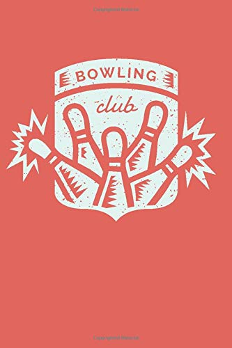 Bowling Club: 6x9 Dot Grid Notebook Journal, 120 pages -