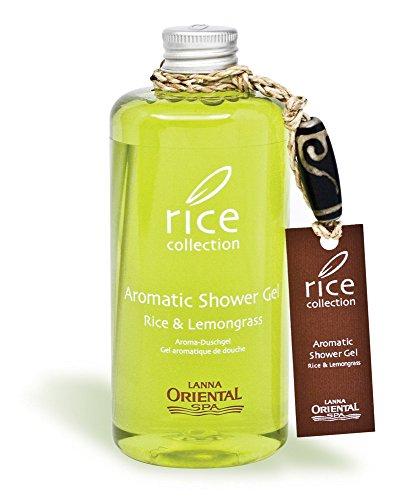 Lanna Oriental Spa Aromatic Shower Gel - Rice & Lemongrass, 300 ml -