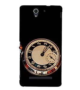 printtech Vintage Clock Design Back Case Cover for Sony Xperia C3 D2533