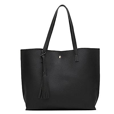 Yuan Women Handbag Leather Shopping Shoulder Tote Bag Purse Top-Handle Bags for Girl