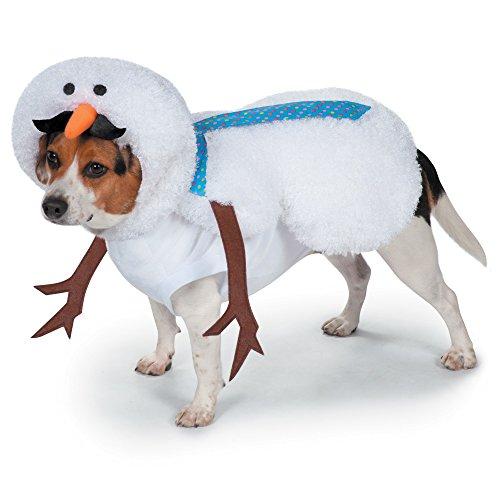 Casual Canine Schnurrbart Schneemann Kostüm für Hunde, - Schneemann Kostüm Für Hunde