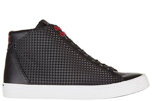Emporio Armani EA7 scarpe sneakers alte uomo in pelle prisma nero EU 42 278065 6A299 00020