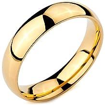 MunkiMix Ancho 5mm Acero Inoxidable Anillo Ring Banda Venda Oro Dorado Alianzas Boda Hombre,Mujer