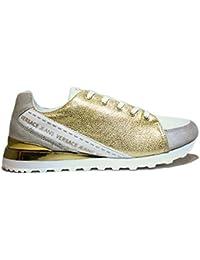 VERSACE J E0VNBSB2 75557 MCI MUJERES zapatillas zapatos con tacón, tacón, NUEVA COLECCIÓN PRIMAVERA VERANO 2016 cuero y oro TELA