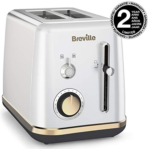 Breville VTT935X-01 VTT935X Mostra 2-Scheiben-Toaster in Mondscheinsilber, Silber