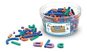 Learning Resources- Construcción de Letras magnéticas, Color (LER8551)