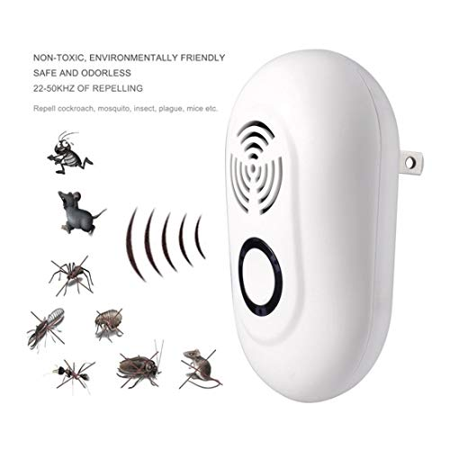 YANWE Elektronischer Ultraschall-Vertreiber, Kakerlaken, Maus, Fliegen, Spriders, Nagetiere, 100% Harmlos FüR Haustiere Und Menschen