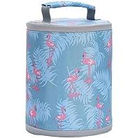 Preisvergleich für Yudanwin Leinwand-Lunch-Tasche Lazy Insulation Lunch Bag Flamingo Wasserdichte Tragbare Lunchbox Tasche