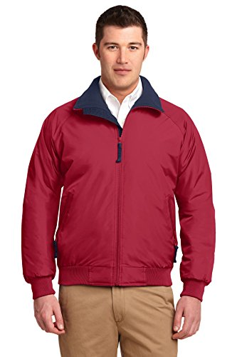 Port Authority hoch Challenger Jacke True Red/ True Navy