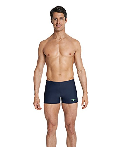 Speedo Herren Sports Logo Aquashorts Badehose, Marineblau, size_name_copy_2/3 Navy/Green