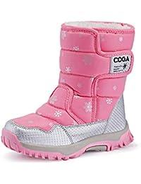 DoGeek Bambini Stivali da Neve Inverno Ragazza Stivaletti Pelliccia Boots  Impermeabile Stivali 20ae1c5bfd7
