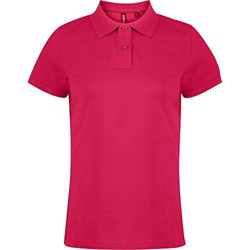 Asquith & Fox Ladies Polo Shirt Hot Pink