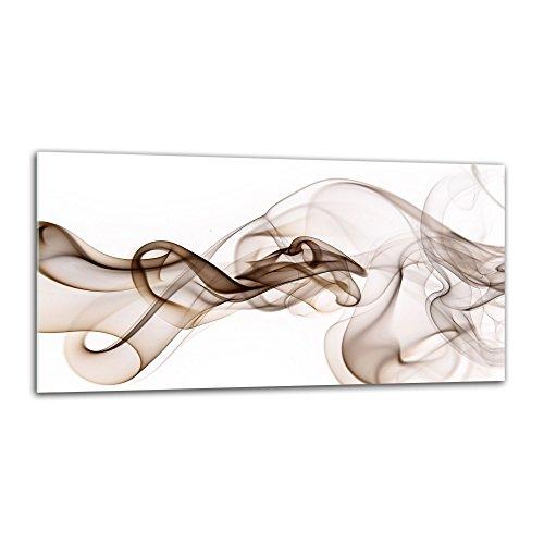 decorwelt Küchenrückwand Spritzschutz aus Glas 80x40 cm Wandschutz Herd Spüle Küchenspritzschutz Fliesenschutz Fliesenspiegel Küche Dekoglas Abstrakt Beige