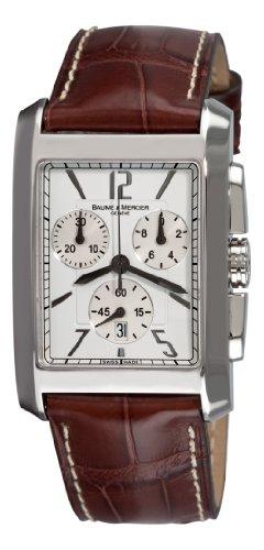 baume-mercier-herren-8823-hampton-classic-xl-chronograph-quartz-weiss-zifferblatt