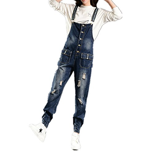 BOMOVO- Salopette- Jumpsuit- Jeans- All in one- Baggy- Donna