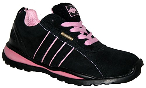 LADIES OTTAWA SAFETY STEEL TOECAP LIGHTWEIGHT LACE UP WORK SHOE TRAINER