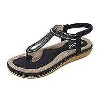 CHLCH Leisure Bohemia Summer BeachWoven Flat Shoes Black 38