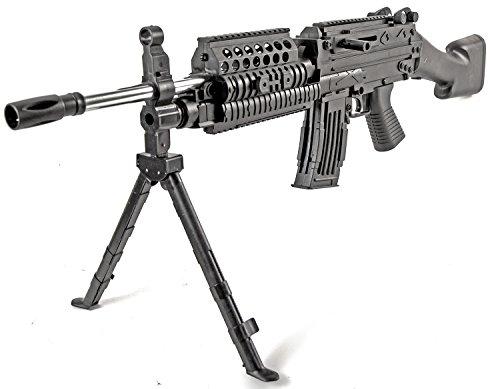 Softair Waffe Gewehr MK48 Gewehr 93cm Set schwarz inkl. Munition u. Schutzbrille ab 14 J. unter 0,5 Joule Air-Soft Airsoft-Waffe
