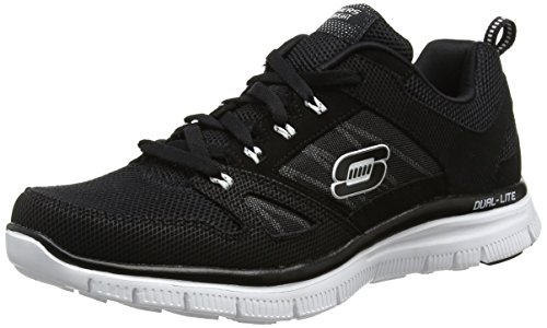 Skechers Flex Advantage, Men's Low-Top Sneakers, Black (Black/White), 10 UK (45 EU)