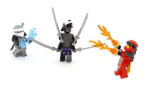 LEGO Ninjago Lord Garmadon im Kampf gegen Feuer und EIS ( Kai und Zane )