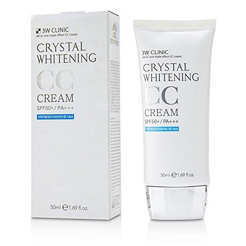 3W Clinic Crystal Whitening Cc Cream Spf 50 Pa+++ No.1 Glitter Beige (Balm Face Sun)