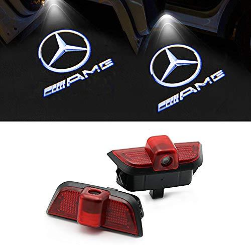 LIKECAR 2 Stück Autotür Logo Türbeleuchtung Projektion Licht Einstiegsbeleuchtung Projektor(W204-AMG)