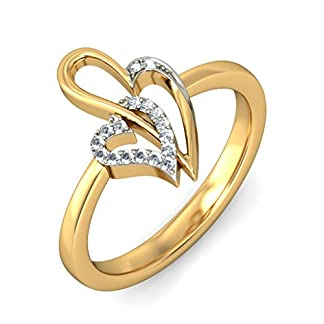 BlueStone 14k Yellow Gold and Diamond Nayelle Ring