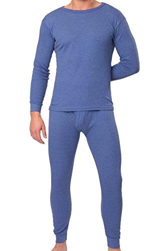 MT® THERMO LIGHT Herren Thermowäsche Set (Hemd + Hose) Blau-XXL (Blaue Unterwäsche)