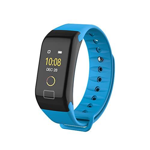 BHYDRY F1 Color Fitness Blutdrucksauerstoff Herzfrequenzmesser Smart Watch Armband(1*pc,Blau)