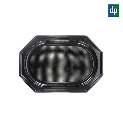 INDE 10 Stück Servierplatte Partyplatte Catering-Tray, Größe L, 45cm, Schwarz - mehrfach verwendbar Catering-tray