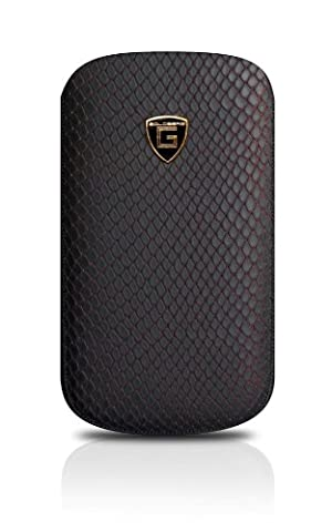 PJ GOLDBERG Case NOBLE XXL Anaconda Leather Black