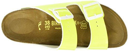 Birkenstock Arizona Birko-Flor, Ciabatte Donna Giallo (Neon Yellow)