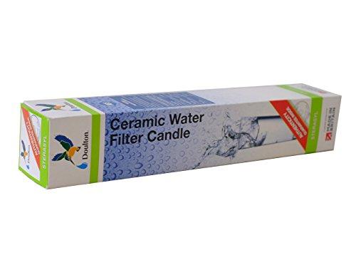 Eivavie sterasyl - cartuccia filtro a candela per acqua potabile, in ceramica, 25,4 cm, filettatura compatibile con sistemi di filtraggio a pressione eivavie