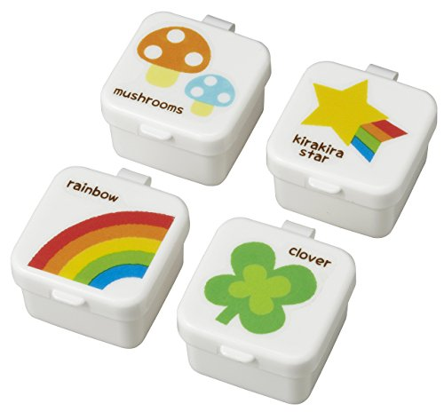 CuteZCute Mini Condiment Mayo Container for Bento Lunch Box, Rainbow, Clover, Star, Mushroom, Set of 4 Bento-sauce