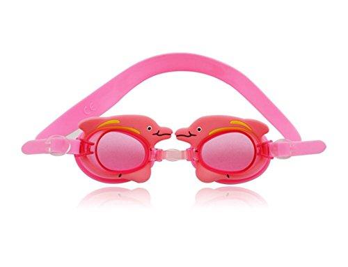 Kinder Karikatur Brille / Wasserdichte Anti-Fog-Schwimmbrille / Nette Silikon Schwimmbrille , Dolphin - Pink,Delphin - Rosa