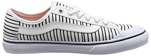 Vans Damen Black Ball Sf Sneaker Weiß (just Stripes/true White/black)
