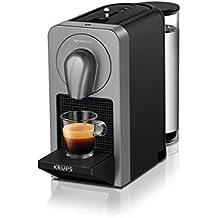 Nespresso Prodigio XN410T Cafetera de cápsulas de 19 bares, 3 programas de café y Conectividad Bluetooth con la App de Nesspreso, 1260 W, 1 Cups, Titán (Reacondicionado)