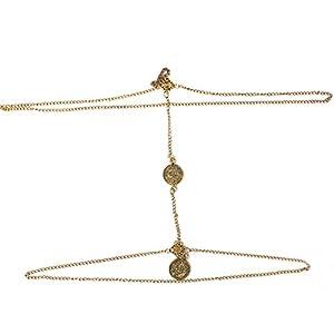 Body Chain Mehrschichtige Quaste Sexy Oberschenkelkette Silber Gold Beach Bikini Wear