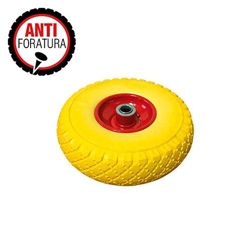 VERDELOOK Ruota Gialla antiforatura di Ricambio per Carrello portatutto cod. 80/8